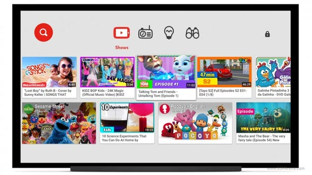 Foto YouTube Kids su Smart TV Samsung, Sony e LG