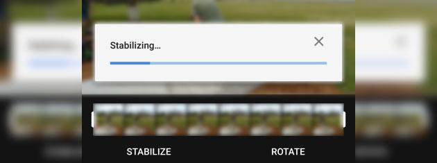 Google Foto, come usare la stabilizzazione video