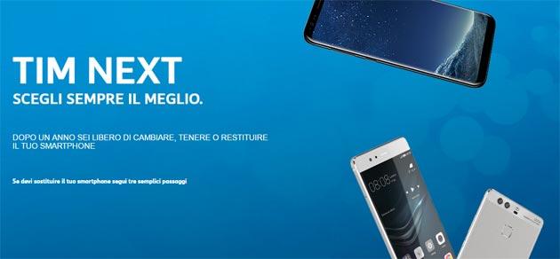 TIM Next per cambiare smartphone ogni anno tra Galaxy S9, iPhone X e 8, Huawei P20, LG V30