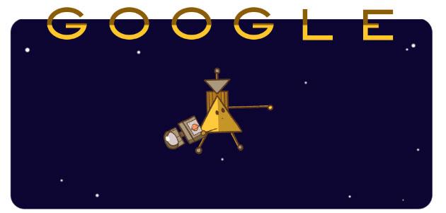 La navicella Cassini nel Doodle di Google si tuffa tra Saturno e i suoi anelli