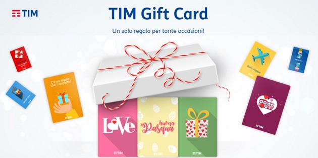 TIM Gift Card per regalare 3 Giga ad altri clienti TIM