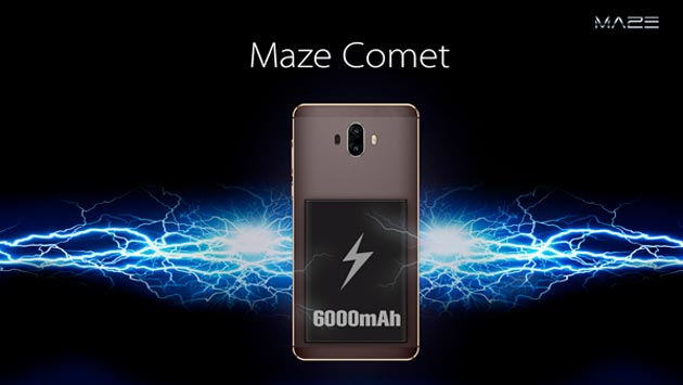 Maze Comet arriva con batteria da 6000mAh, display 5.5 e Android 7 Nougat