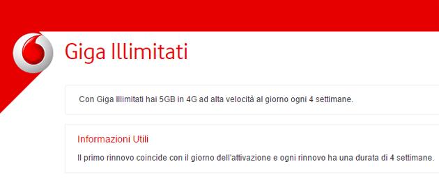 Vodafone Giga Illimitati: questa offerta non esiste [aggiornamento con dichiarazione ufficiale Vodafone]