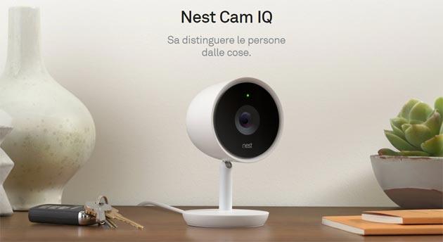 Nest Cam IQ con sensore 4K distingue le persone dalle cose