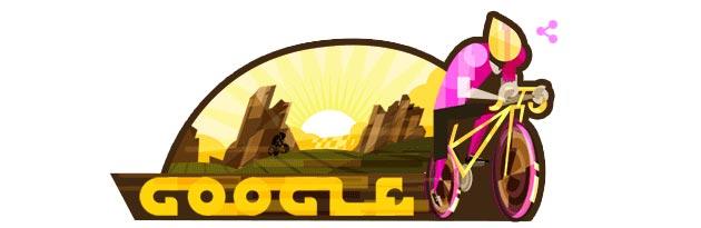 Il Giro d' Italia 100 nel Doodle di Google