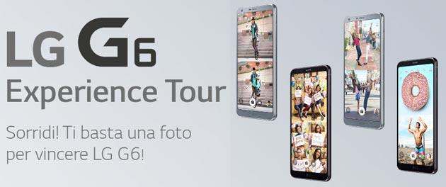 LG G6 Experience Tour: basta una Foto per provare a vincere un LG G6