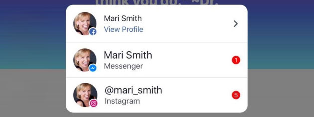 Facebook testa le notifiche combinate con Messenger e Instagram