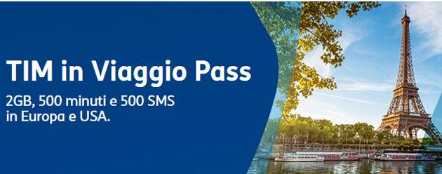 Tim In Viaggio Pass 2017: Chiamate, Sms e GB in Europa e Usa