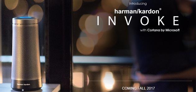 Invoke, primo altoparlante con Cortana da Microsoft e Harman Kardon