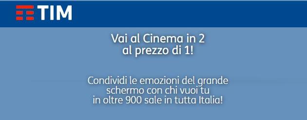 Tim per Natale porta al Cinema in 2 al prezzo di 1 fino al 22 dicembre