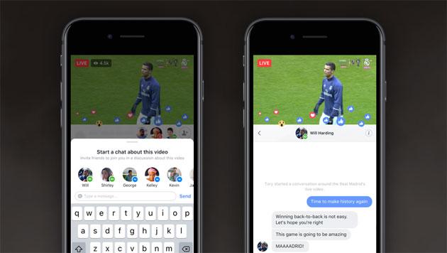 Facebook, Live Chat con Amici e Live con Ospite