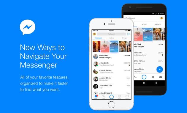 Facebook Messenger: aggiornamento grafico con nuova scheda Scopri semplifica la navigazione