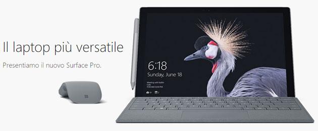 Microsoft Surface Pro 2017, aggiornamento del Surface Pro 4 da 959 euro in Italia
