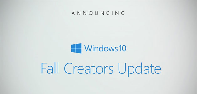 Foto Windows 10 Fall Creators Update in autunno con Fluent Design, Timeline e Graph