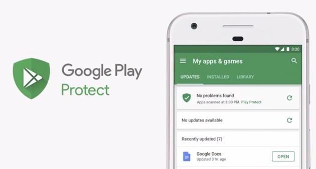 Foto Google Play Protect, sicurezza globale per Android