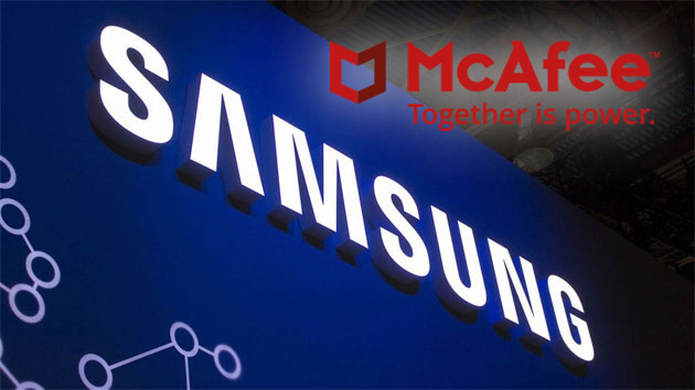 Samsung preinstalla McAfee su Galaxy S8, smart TV e PC come software di sicurezza