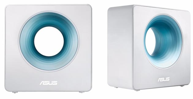 Foto Asus Blue Cave, potente router Wireless AC2600 con design particolare