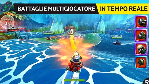 Battle Bay da Rovio disponibile per Android e iOS. Versione tascabile di una arena per battaglie multigiocatore in tempo reale