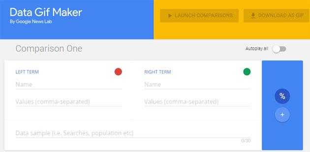 Google Data Gif Maker, strumento per animare dati in GIF