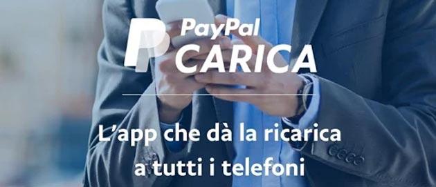 PayPal Carica, app per ricaricare TIM, Vodafone, Wind e Tre