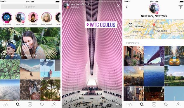 Instagram, Storie con Localita' e Hashtag nelle Storie