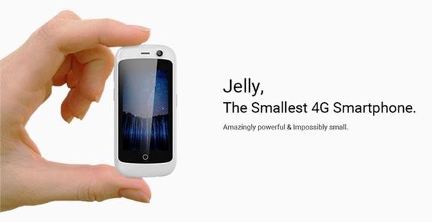 Jelly, lo smartphone 4G piu' piccolo al mondo