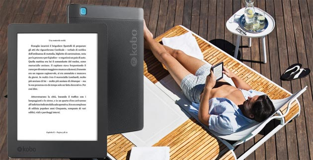 Kobo Aura H2O Edition 2, Ereader impermeabile da 179 euro
