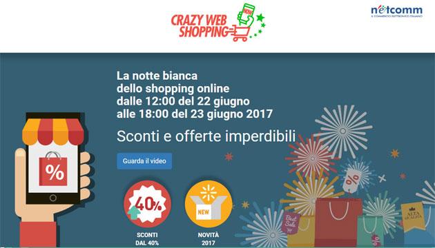Crazy Web Shopping, la Notte Bianca dello shopping Online