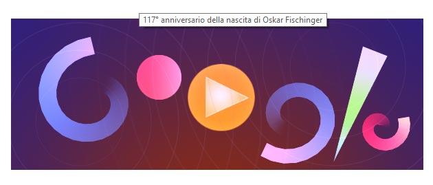 Google Doodle a Oskar Fischinger, animatore e pittore tedesco