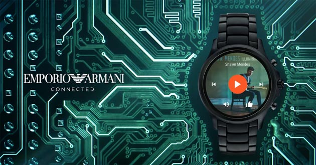 Emporio Armani Connected, smartwatch Android Wear 2 in arrivo a settembre