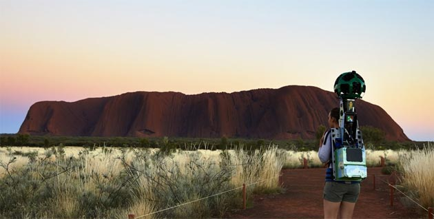 Il Parco Nazionale Uluru-Kata Tjuta su Google Street View
