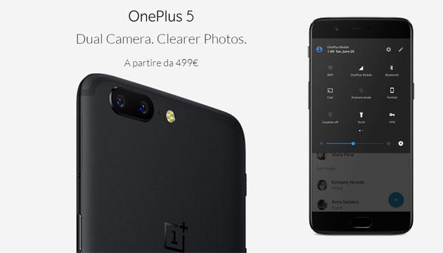 OnePlus 5 ufficiale: Specifiche, Foto, Video e Prezzi in Italia