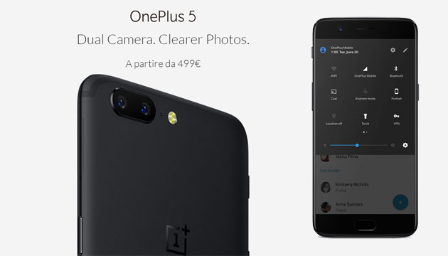 Foto OnePlus 5 smartphone migliore per AnTuTu ad Agosto 2017