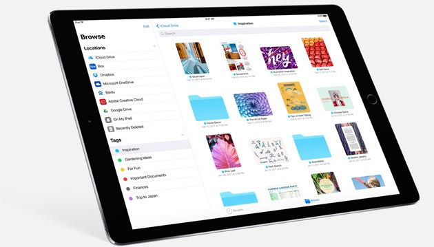 Apple iOS 11 introduce File per sfogliare documenti e file su iPhone e iPad