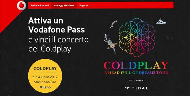 Vodafone Pass regala concerto Coldplay: come provare a vincere i Biglietti