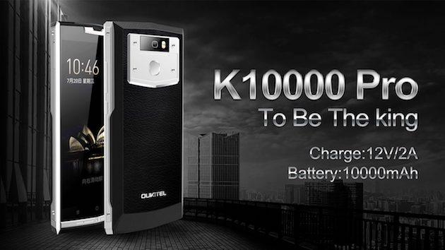 Oukitel K1000 Pro in offerta, Smartphone Nougat con batteria da 10000 mAh