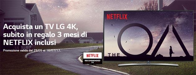 LG regala tre mesi di Netflix