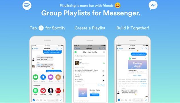 Spotify lancia le Playlist di Gruppo in Messenger