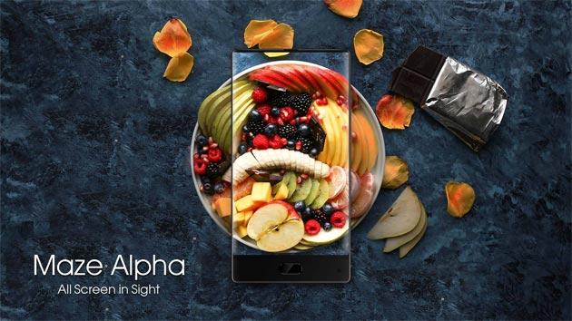 Maze Alpha, smartphone quasi senza bordi e doppia fotocamera