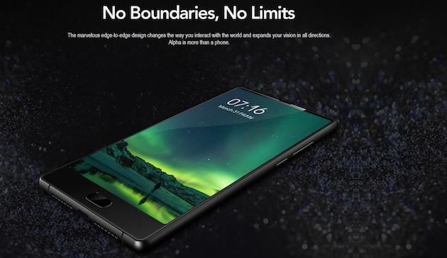 Maze Alpha, Smartphone senza bordi in sconto a 150 euro