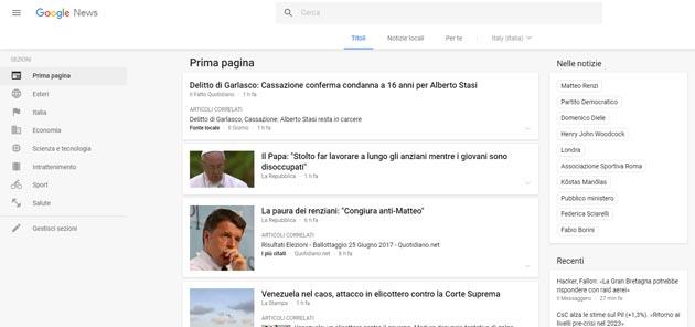 Google News, nuova grafica e nuove funzioni per tutti