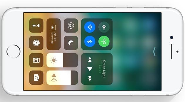 Apple iOS 11, nuovo Centro di Controllo personalizzabile