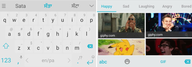 Swiftkey supporta le GIF per categorie