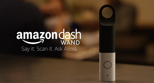 Amazon Dash Wand, bacchetta intelligente con Alexa per acquistare da Amazon