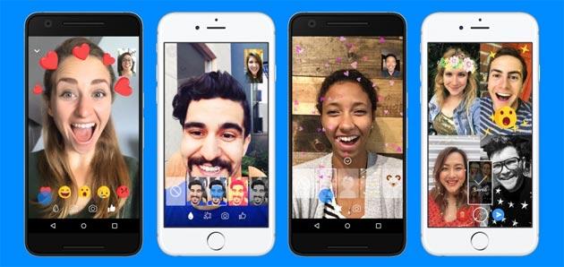 Messenger, Facebook introduce nelle Video Chat Reazioni Animate, Filtri, Maschere e Effetti