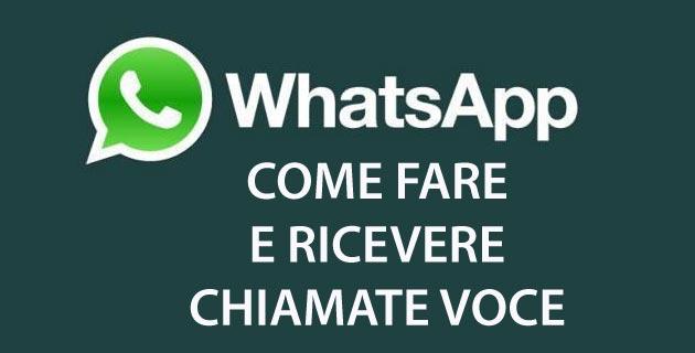 Whatsapp, come Fare e Ricevere Chiamate Vocali, Videochiamate e di Gruppo