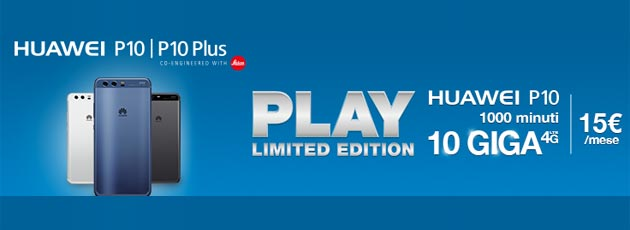 3 PLAY Limited Edition con Huawei P10 e P10 Plus