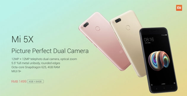 Xiaomi Mi 5X ufficiale: display 5.5 FHD, Dual Camera 12MP, Snap625
