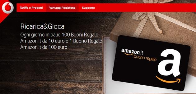 Vodafone Ricarica e Gioca: in palio Buoni Regalo Amazon [fino al 3 settembre]