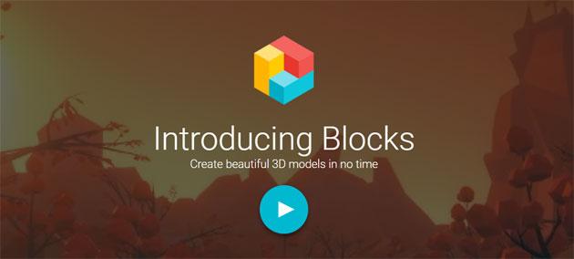Google Blocks, strumenti di modellazione 3D per VR